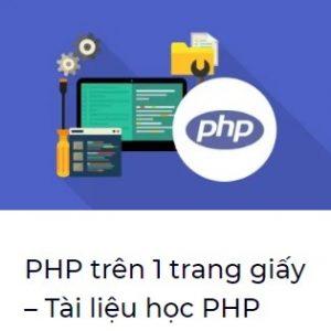 tài liệu PHP